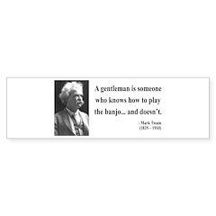 Mark Twain 36 Bumper Bumper Sticker