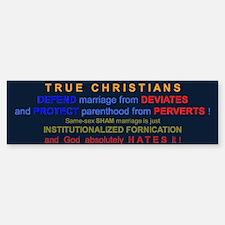 Defend Marriage Bumper Bumper Bumper Sticker