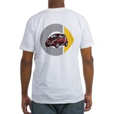 What's Your Color? Fitted Red Smart Car T-Shirt