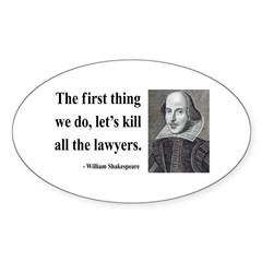Shakespeare 14 Oval Decal