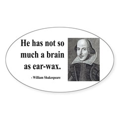 Shakespeare 25 Oval Decal