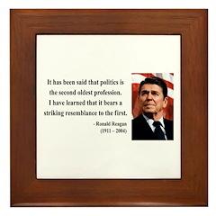 Ronald Reagan 8 Framed Tile