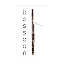 Bassoon Bassoonist Rectangle Sticker 10 pk)