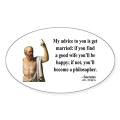 Socrates 14 Oval Decal