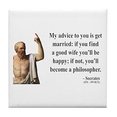 Socrates 14 Tile Coaster