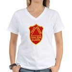 Canal Zone Police Division Women's V-Neck T-Shirt