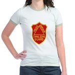 Canal Zone Police Division Jr. Ringer T-Shirt