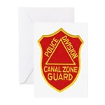 Canal Zone Police Division Greeting Cards (Pk of 2