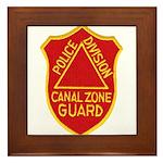 Canal Zone Police Division Framed Tile