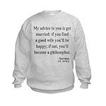 Socrates 14 Kids Sweatshirt