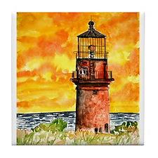 Gay Head Cape Cod Lighthouse Tile Coaster