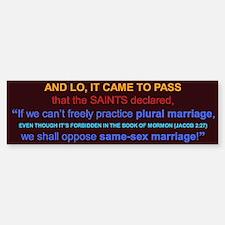 Oppose Same-Sex Marriage Bumper Bumper Bumper Sticker