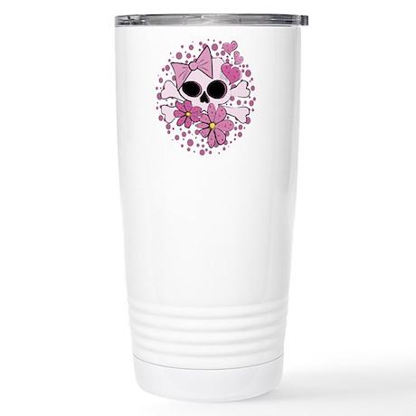 Girly Punk Skull Stainless Steel Travel Mug