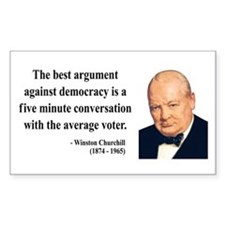 Winston Churchill 2 Rectangle Decal