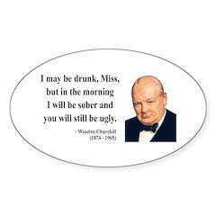 Winston Churchill 13 Oval Decal