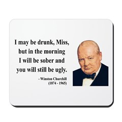 Winston Churchill 13 Mousepad