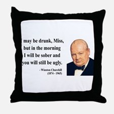 Winston Churchill 13 Throw Pillow