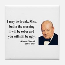 Winston Churchill 13 Tile Coaster