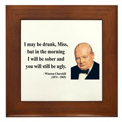 Winston Churchill 13 Framed Tile
