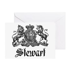 Stewart Vintage Crest Family Name Greeting Card
