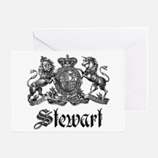 Stewart Vintage Crest Family Name Greeting Card