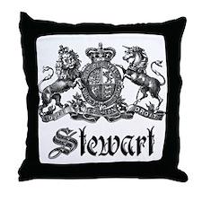 Stewart Vintage Crest Family Name Throw Pillow