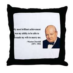 Winston Churchill 15 Throw Pillow