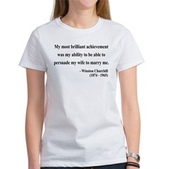 Winston Churchill 15 Women's T-Shirt