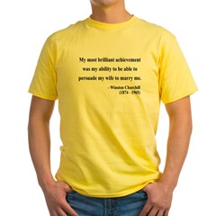Winston Churchill 15 Yellow T-Shirt