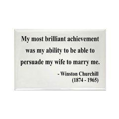 Winston Churchill 15 Rectangle Magnet (100 pack)