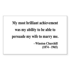 Winston Churchill 15 Rectangle Decal