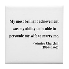 Winston Churchill 15 Tile Coaster