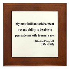 Winston Churchill 15 Framed Tile