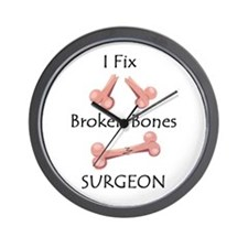 Broken Bones MD Wall Clock