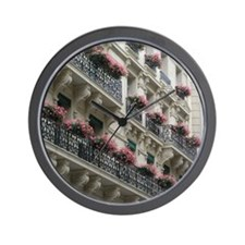 Paris Flowers Wall Clock