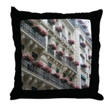 Paris Flowers Throw Pillow