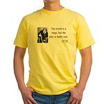 Oscar Wilde 5 Yellow T-Shirt