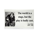 Oscar Wilde 5 Rectangle Magnet (100 pack)