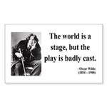 Oscar Wilde 5 Rectangle Sticker