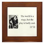 Oscar Wilde 5 Framed Tile