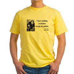 Oscar Wilde 14 Yellow T-Shirt