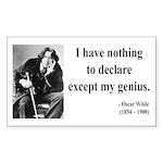 Oscar Wilde 14 Rectangle Sticker