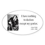 Oscar Wilde 14 Oval Sticker