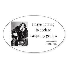 Oscar Wilde 14 Oval Decal
