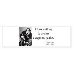 Oscar Wilde 14 Bumper Bumper Sticker
