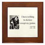 Oscar Wilde 14 Framed Tile