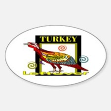 Turkey Leftover Oval Decal