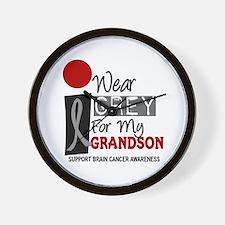 I Wear Grey For My Grandson 9 Wall Clock