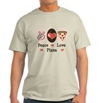 Peace Love Pizza Light T-Shirt