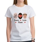Peace Love Pizza Women's T-Shirt